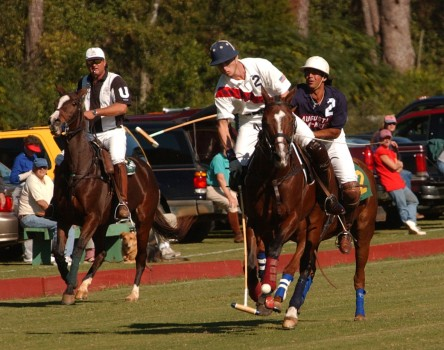 A game held at one of the historic polo fields in Aiken.