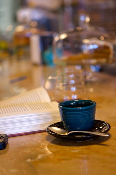Sometimes life is as easy as a good cup and a good book.