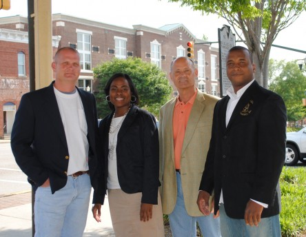 The key people at Michelle Productions left to right: Ray Gailard, Monique Mack, Kurt Cowan, and Shawn McDaniels.