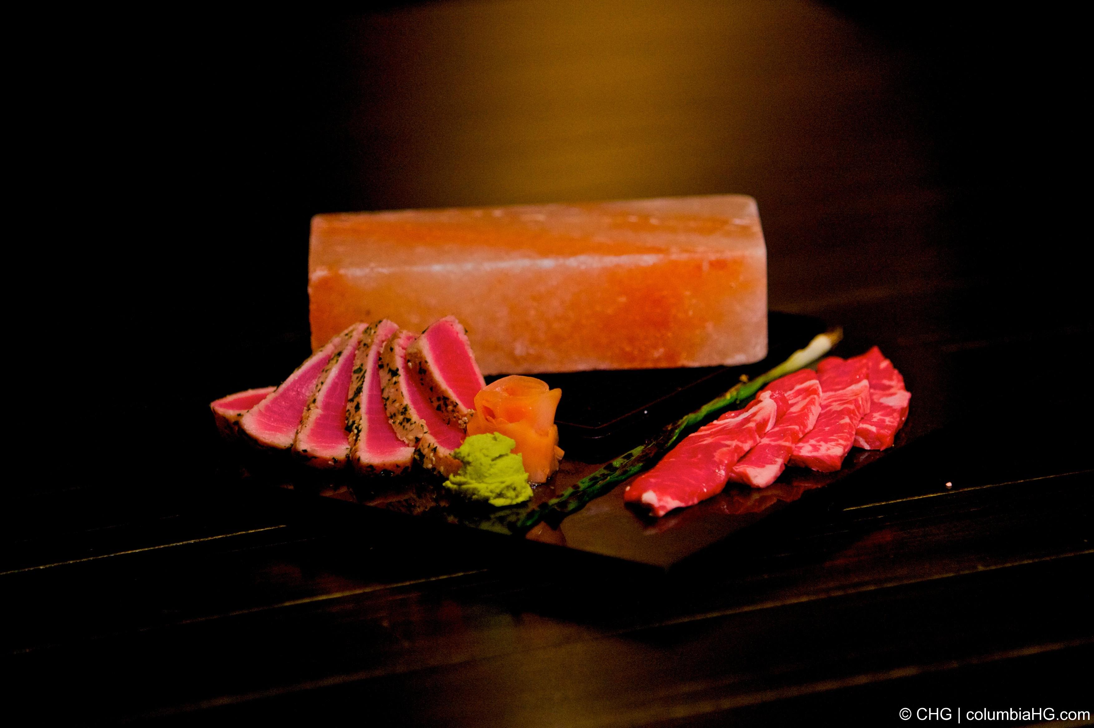 Sashimi Tuna and Kobe Tri-tip Salt Rock Combo   Columbia ...