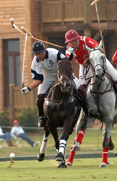 Adam Snow (among others) in 'high goal polo' play at New Bridge Polo field.